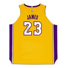 LeBron James Autographed Los Angeles Lakers Gold Authentic Nike Jersey f1a901ae2