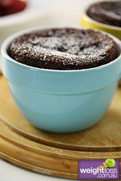 Self Saucing Chocolate Pudding. #HealthyRecipes #DietRecipes #WeightLossRecipes weightloss.com.au