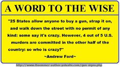 An Andrew Ford quote supporting the right to bear arms. By L. B. Sommer the author of 199 WAYS TO IMPROVE YOUR RELATIONSHIPS, MARRIAGE, AND SEX LIFE http://www.lbsommer-author.yolasite.com/gun-control.php