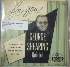 George Shearing ~ MGM X 1006 45 EP w/ PS