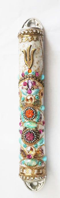 New  Beautiful Mezuzah Handmade Art Flower by IrinaSmilansky, $100.00