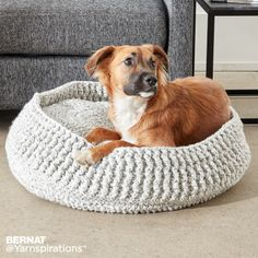 Bernat Crochet Pet Bed, Crochet Pattern | Yarnspirations