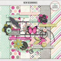 New Beginnings mini kit freebie from Digital Scrapbook Ingredients