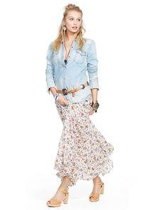 Floral Tiered Maxiskirt - Shop All Apparel - Ralph Lauren France
