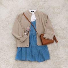 #korean, #fashion, #set, #ootd, #spring, #look, #denim, #dress
