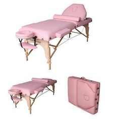 "Pink 77"" L 30"" W 3"" Pad Reiki Portable Massage Table in Health & Beauty, Massage, Massage Tables & Chairs 