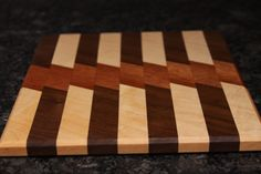 Cutting Board made using Maple, Mahogany, and Walnut