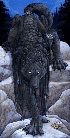 """Eyes of the Night by Christy Grandjean ( black, wolf, dark, lobo, negro, """"la obscuridad en mi que debo amarrar"""")"""