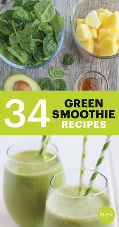 34 Green Smoothie Recipes to Boost Your Health Today!