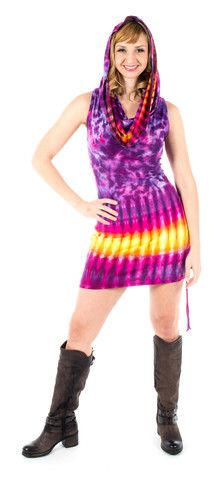 Medium Tie Dye Cotton Huntress Cinch Dress
