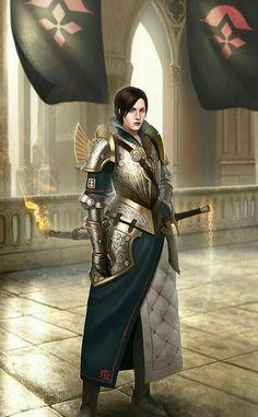 Female Fighter Knight - Pathfinder PFRPG DND D&D d20 fantasy