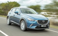 Download wallpapers 4k, Mazda CX-3, 2018 cars, road, crossovers, new CX-3, Mazda