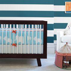 Don't be afraid to go bold. Ben Crib Bedding Collection #serenaandlily