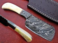 Damascus Steel has high quality contents to give it an excellent edge and sharp cutting ability. Hardness of the Blade is HRC it is hand sharpened to a sharp edge.