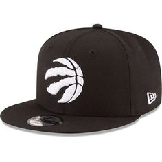 cheap for discount e1a9f 6ae4a Men s Toronto Raptors New Era Black Black  amp  White Logo 9FIFTY  Adjustable Snapback Hat Black