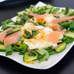 Brunch Salad with Fried Eggs and Smoked Salmon Recipe on Yummly. @yummly #recipe