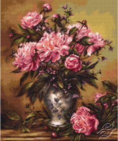ZESTAWY CROSS STITCH - LUCA-S - Kwiaty - Gvello Stitch
