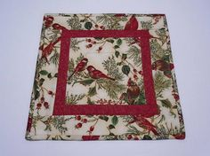 Christmas Quilted Table Topper Winter Quilted Table Runner