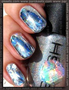 Gosh Holographic + Essence Nails In Style TE Style My Glamour foil