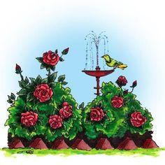 Rose Garden Digi Stamp in Digital images