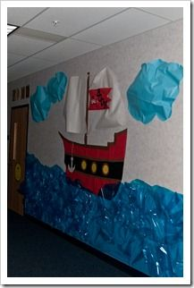 Back to School Hallways/Bulletin Boards Pirate Day, Pirate Theme, Classroom Displays, Classroom Themes, Music Classroom, Beginning Of The School Year, Back To School, Hallway Bulletin Boards, Pirate Bulletin Boards