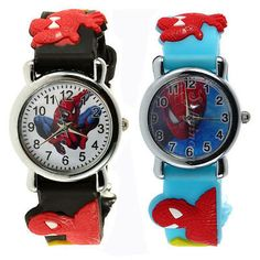 Marvel spiderman style #water resistant boys #black or blue rubber wrist #watch 3,  View more on the LINK: 	http://www.zeppy.io/product/gb/2/221808496286/