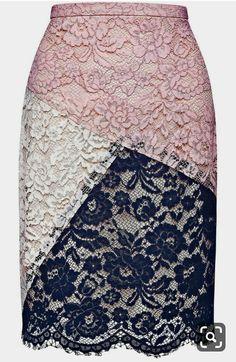 Pink Lace Skirt, Pink Dress, Lace Dress, Mode Inspiration, Morning Inspiration, Printed Skirts, Refashion, African Fashion, Dress Skirt