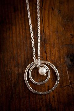 Hammered Silver Necklaces Infinity by Alana Lilie for Bourbon & Boots