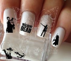 The walking dead Nail Art Nail water decals transfers