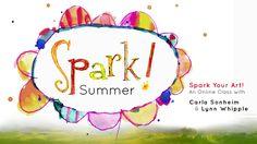 Spark Summer - Carla Sonheim Presents Online Art Classes, New Teachers, More Fun, Presents, Creative, Journals, Summer, Mixed Media, Gifts