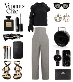 """""""Unbenannt #875"""" by fashionlandscape ❤ liked on Polyvore featuring Jacquemus, Chloé, Victoria Beckham, Nixon, Acne Studios, Chanel, NARS Cosmetics, Anja and Aesop"""