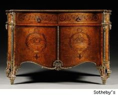 Most expensive English furniture: The Harrington Commode:  A piece of furniture believed to be crafted by Thomas Chippendale and dating to circa 1770 set a new record for any piece of English furniture sold at auction. The Harrington Commode was sold by Sotheby's London for six million dollars, over three times its estimate. The price trumped the previous record set in June 2008  at Christie's for a George II Parcel-Gilt Padouk Cabinet-on- Stand also attributed to Thomas Chippendale.