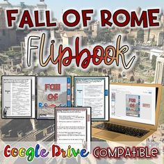 Fall of Rome FlipBook {Digital AND Paper} Distance Learning Rome Activities, Interactive Activities, Social Studies Resources, Mobile Learning, Blended Learning, Educational Technology, 21st Century, Teaching, Ancient Rome