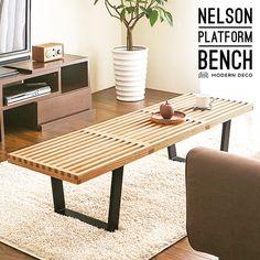 ネルソンベンチNelsonBenchテーブルローテーブルセンターテーブルナイトテーブルリビングテーブルガラス天板