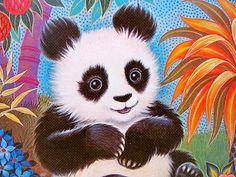 K Chin Jungle Panda Print by WolfHouse on Etsy