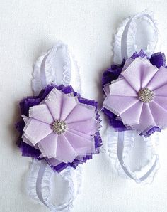 Purple Barefoot Baby Sandals Baby Bare Foot by MissPipersPretties