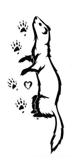 ferret tattoo - Google Search