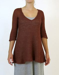 Lulu is a top-down, seamless knit with set-in sleeves and English tailored shoulders. The construction means your options are wide open; knit her as a tunic or keep going and knit a dress. Likewise with the sleeves, knit them to the exact length you prefer. And when you BO just block and she's ready to wear! (Coco Knits pamphlet)