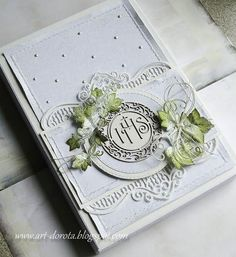 Nadal tradycyjnie ... | Dorota_mk | Bloglovin' Graphic 45, First Communion Cards, Scrapbook Albums, Scrapbooking, Shabby Chic Cards, Exploding Boxes, Heartfelt Creations, Christening, Wedding Cards