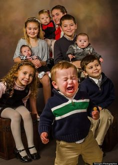 Family photo gone wrong-years of taking family pics & this happened almost every time!