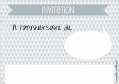 carte d'anniversaire et invitation à imprimer par petits-canaillous.fr