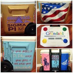 my painted Sigma Pi fraternity formal cooler for the date (: