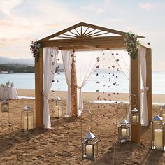 There's nothing more romantic than a beach-side wedding ceremony.