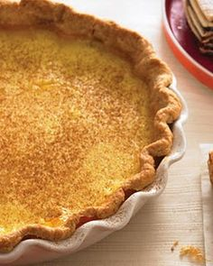 Kick in the Pants Pie - Cinnamon spice custard (Today's Special) from the movie Waitress.