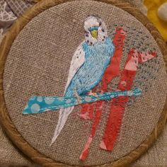 "168 Likes, 9 Comments - Sophie Tomlinson (@sewphiet) on Instagram: ""Done! #budgie #embroidery #bordado #broderie"""