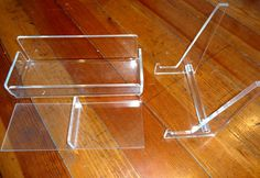 Vintage Lucite Organizer and Picture Frame Holder Stand Mid-Century Style Desk Office Accessories MadMen Rare 1950's 60's