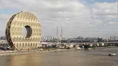 Memorable architectural designs, already built in China, include the Guangzhou Circle, home to the Guangdong Plastic Exchange. According to Italian architecture firm A.M. Progetti, the design is inspired by ancient jade discs.