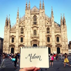 We're into #Milan. This #cathedral took six CENTURIES to complete and is seriously jaw dropping. And so are the beautiful people in this city! #peoplewatching #duomo #duomodimilan #wereintotraveling #wereintoit