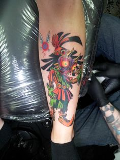Skull Kid Zelda Tattoo... omg this is the one I wanted, glad to know its as bad ass as I thought!