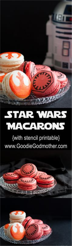 Star Wars Macarons: Chocolate Chili Macarons & Wild Orange Vanilla Bean